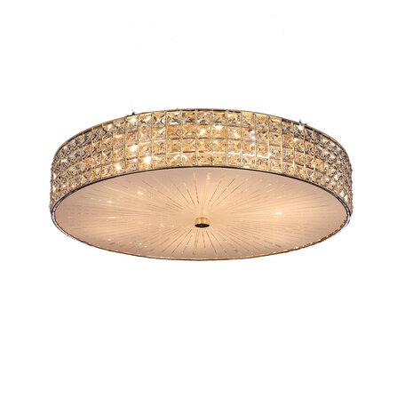 Потолочная люстра Citilux Портал CL324102, 10xE14x60W, золото, стекло, хрусталь