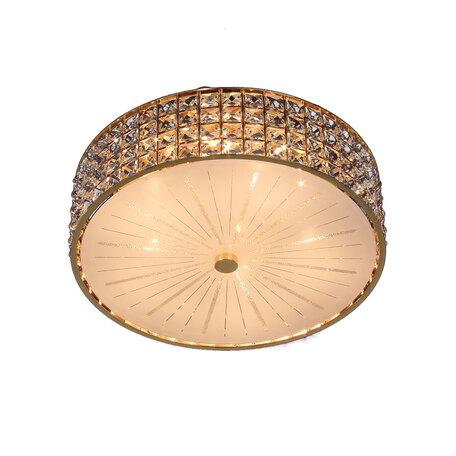Потолочная люстра Citilux Портал CL324152, 5xE14x60W, золото, стекло, хрусталь