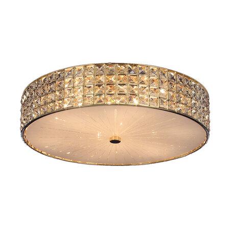 Потолочная люстра Citilux Портал CL324182, 8xE14x60W, золото, стекло, хрусталь