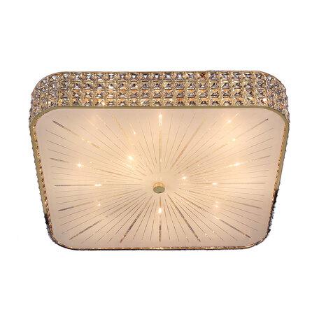 Потолочная люстра Citilux Портал CL324202, 10xE14x60W, золото, стекло, хрусталь
