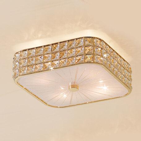 Потолочная люстра Citilux Портал CL324242, 4xE14x60W, золото, стекло, хрусталь
