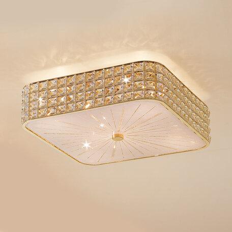 Потолочная люстра Citilux Портал CL324262, 6xE14x60W, золото, стекло, хрусталь