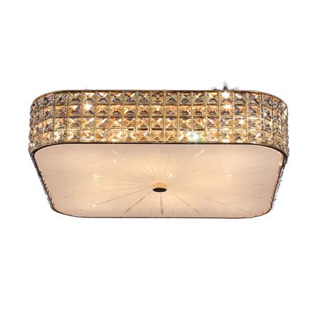 Потолочная люстра Citilux Портал CL324282, 8xE14x60W, золото, белый, прозрачный, металл, стекло, хрусталь