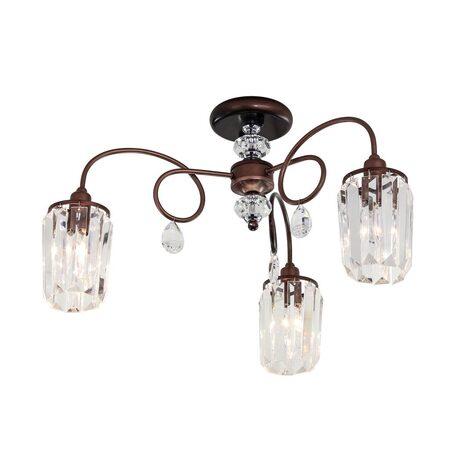 Потолочная люстра Citilux Синди CL330133, 3xE14x60W, коричневый, прозрачный, металл, хрусталь