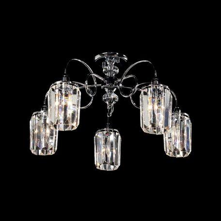 Потолочная люстра Citilux Синди CL330151, 5xE14x60W, хром, прозрачный, металл, хрусталь