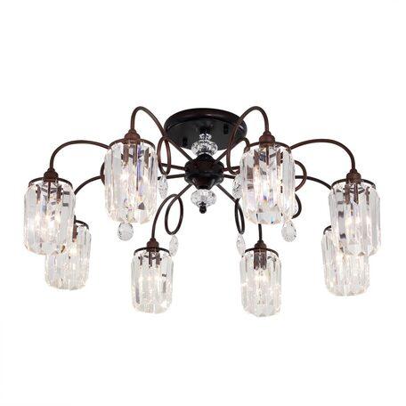 Потолочная люстра Citilux Синди CL330183, 8xE14x60W, коричневый, прозрачный, металл, хрусталь