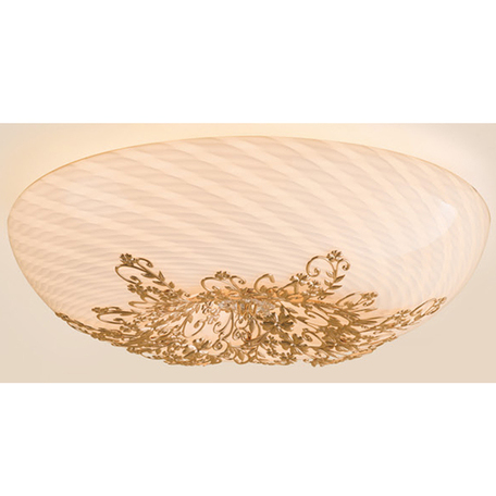 Потолочный светильник Citilux Торо CL254262, 6xG9x40W, золото, белый, металл, стекло - миниатюра 1