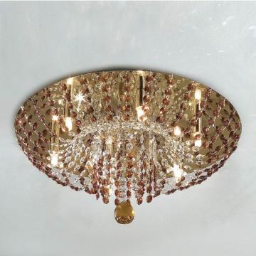 Потолочная люстра Citilux Орион CL305163, 6xG9x60W, золото, желтый, красный, прозрачный, металл, хрусталь - миниатюра 3