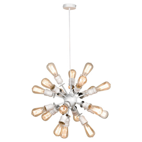 Подвесная люстра Lussole Loft Elmira LSP-8205, IP21, 18xE27x40W, белый, металл