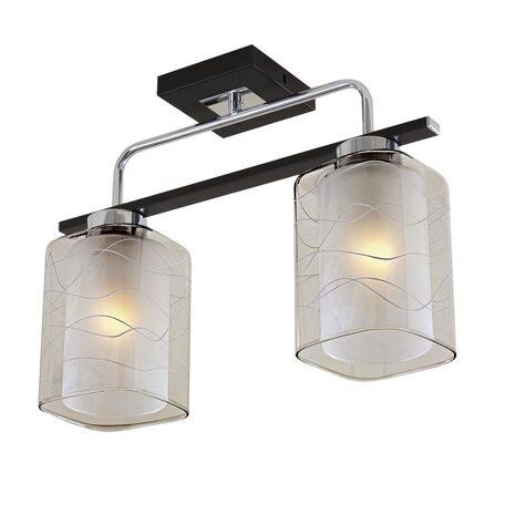 Потолочный светильник Citilux Румба CL159121, 2xE27x75W, венге, белый, металл, стекло