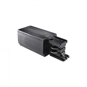 Боковой подвод питания для трековой системы Ideal Lux LINK TRIMLESS MAIN CONNECTOR LEFT BK ON-OFF 169576 (LINK TRIMLESS MAIN CONNECTOR LEFT BLACK), черный, пластик