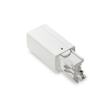 Боковой подвод питания для трековой системы Ideal Lux LINK TRIMLESS MAIN CONNECTOR LEFT WH ON-OFF 169583 (LINK TRIMLESS MAIN CONNECTOR LEFT WHITE), белый, пластик
