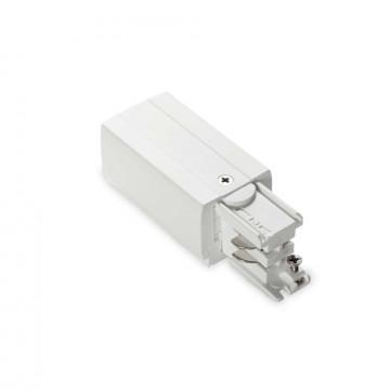 Боковой подвод питания для трековой системы Ideal Lux LINK TRIMLESS MAIN CONNECTOR RIGHT WH ON-OFF 169590 (LINK TRIMLESS MAIN CONNECTOR RIGHT WHITE), белый, пластик