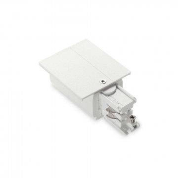 Боковой подвод питания для трековой системы Ideal Lux LINK TRIM MAIN CONNECTOR RIGHT WH ON-OFF 188058 (LINK TRIM MAIN CONNECTOR RIGHT WHITE), белый, пластик
