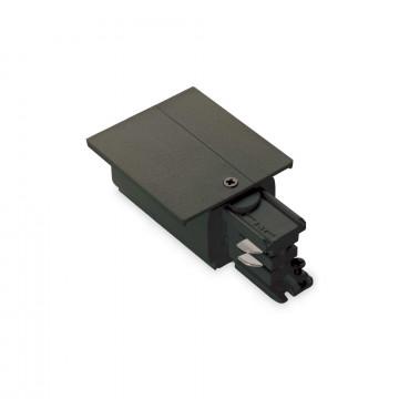Боковой подвод питания для трековой системы Ideal Lux LINK TRIM MAIN CONNECTOR RIGHT BK ON-OFF 188065 (LINK TRIM MAIN CONNECTOR RIGHT BLACK), черный, пластик