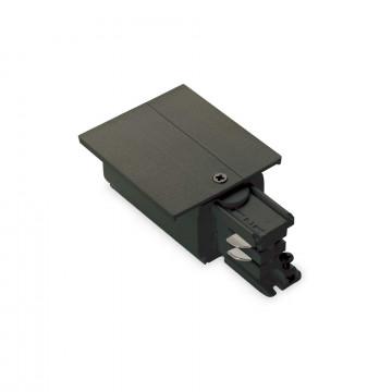 Боковой подвод питания для трековой системы Ideal Lux LINK TRIM MAIN CONNECTOR LEFT BK ON-OFF 188089 (LINK TRIM MAIN CONNECTOR LEFT BLACK), черный, пластик