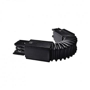 Гибкий соединитель для шинопровода Ideal Lux LINK FLEXIBLE CONNECTOR BLACK 169927, черный, пластик