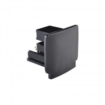 Заглушка для шинопровода Ideal Lux LINK END CAP BLACK 169620, черный, пластик