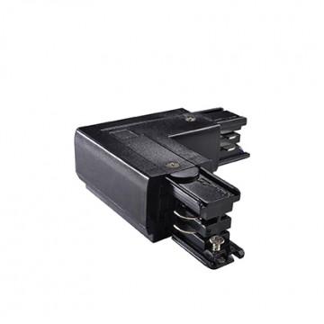 L-образный левый соединитель для шинопровода Ideal Lux LINK TRIMLESS L-CONNECTOR LEFT BLACK 169712, черный, пластик