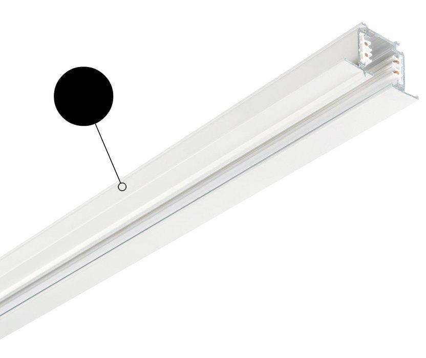Шинопровод Ideal Lux LINK TRIM PROFILE 2000 mm BLACK 188027, черный, металл - фото 1