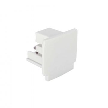 Концевая заглушка для шинопровода Ideal Lux LINK END CAP WH 169613 (LINK END CAP WHITE), белый, пластик