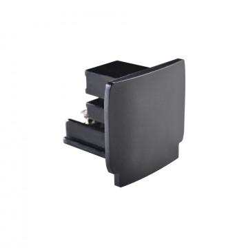 Концевая заглушка для шинопровода Ideal Lux LINK END CAP BK 169620 (LINK END CAP BLACK), черный, пластик