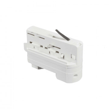 Крепление-адаптер для монтажа светильника на трек Ideal Lux LINK TRACK CONNECTOR WH ON-OFF 194257 (LINK TRACK CONNECTOR WHITE), белый, пластик
