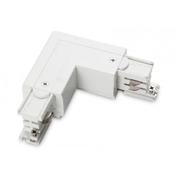 L-образный левый соединитель для шинопровода Ideal Lux LINK TRIMLESS L-CONNECTOR LEFT WH ON-OFF 169705 (LINK TRIMLESS L-CONNECTOR LEFT WHITE), белый, пластик