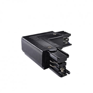 L-образный левый соединитель для шинопровода Ideal Lux LINK TRIMLESS L-CONNECTOR LEFT BK ON-OFF 169712 (LINK TRIMLESS L-CONNECTOR LEFT BLACK), черный, пластик
