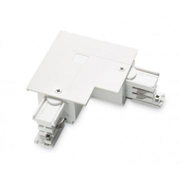 L-образный левый соединитель для шинопровода Ideal Lux LINK TRIM L-CONNECTOR LEFT WH ON-OFF 188119 (LINK TRIM L-CONNECTOR LEFT WHITE), белый, пластик