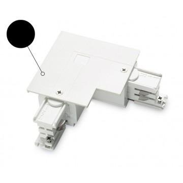 L-образный левый соединитель для шинопровода Ideal Lux LINK TRIM L-CONNECTOR LEFT BK ON-OFF 188126 (LINK TRIM L-CONNECTOR LEFT BLACK), черный, пластик