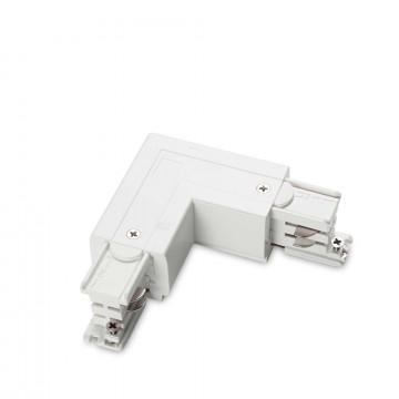 L-образный левый соединитель питания для треков Ideal Lux LINK TRIMLESS L-CONNECTOR LEFT WH ON-OFF 169705 (LINK TRIMLESS L-CONNECTOR LEFT WHITE), белый, пластик