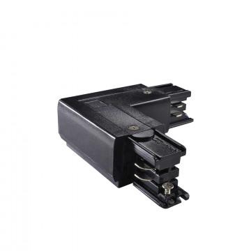 L-образный левый соединитель питания для треков Ideal Lux LINK TRIMLESS L-CONNECTOR LEFT BK ON-OFF 169712 (LINK TRIMLESS L-CONNECTOR LEFT BLACK), черный, пластик