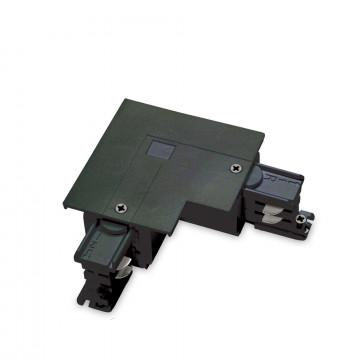 L-образный левый соединитель питания для треков Ideal Lux LINK TRIM L-CONNECTOR LEFT BK ON-OFF 188126 (LINK TRIM L-CONNECTOR LEFT BLACK), черный, пластик