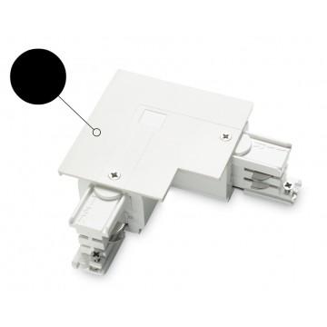 L-образный правый соединитель для шинопровода Ideal Lux LINK TRIM L-CONNECTOR RIGHT BK ON-OFF 188102 (LINK TRIM L-CONNECTOR RIGHT BLACK), черный, пластик