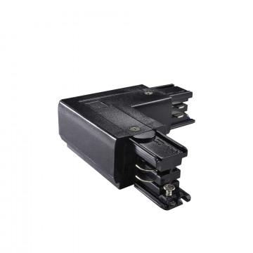 L-образный правый соединитель питания для треков Ideal Lux LINK TRIMLESS L-CONNECTOR RIGHT BK ON-OFF 169729 (LINK TRIMLESS L-CONNECTOR RIGHT BLACK), черный, пластик