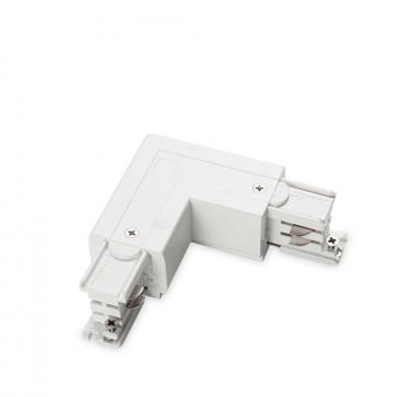 L-образный правый соединитель питания для треков Ideal Lux LINK TRIMLESS L-CONNECTOR RIGHT WH ON-OFF 169736 (LINK TRIMLESS L-CONNECTOR RIGHT WHITE), белый, пластик