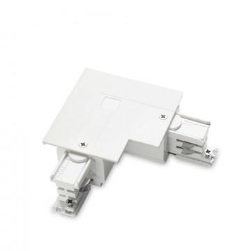 L-образный правый соединитель питания для треков Ideal Lux LINK TRIM L-CONNECTOR RIGHT WH ON-OFF 188096 (LINK TRIM L-CONNECTOR RIGHT WHITE), белый, пластик