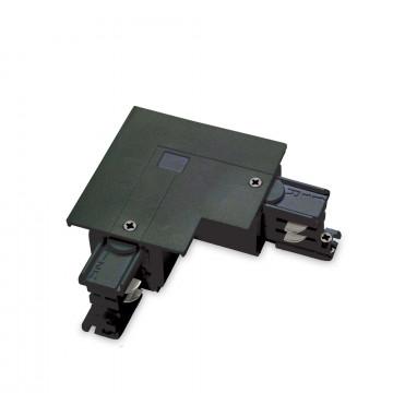 L-образный правый соединитель питания для треков Ideal Lux LINK TRIM L-CONNECTOR RIGHT BK ON-OFF 188102 (LINK TRIM L-CONNECTOR RIGHT BLACK), черный, пластик