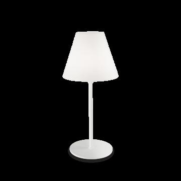 Настольная лампа Ideal Lux ITACA TL1 180960, IP44, 1xE27x60W, белый, металл, пластик