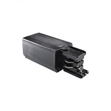 Подвод питания для шинной системы Ideal Lux LINK TRIMLESS MAIN CONNECTOR LEFT BK ON-OFF 169576 (LINK TRIMLESS MAIN CONNECTOR LEFT BLACK), черный, пластик