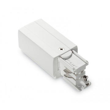 Подвод питания для шинной системы Ideal Lux LINK TRIMLESS MAIN CONNECTOR LEFT WH ON-OFF 169583 (LINK TRIMLESS MAIN CONNECTOR LEFT WHITE), белый, пластик