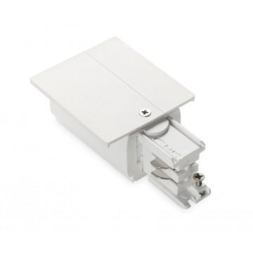 Подвод питания для шинной системы Ideal Lux LINK TRIM MAIN CONNECTOR LEFT WH ON-OFF 188072 (LINK TRIM MAIN CONNECTOR LEFT WHITE), белый, пластик