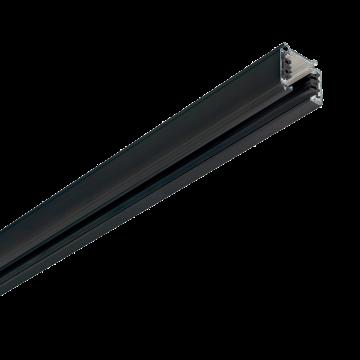 Шинопровод Ideal Lux LINK TRIMLESS PROFILE 2000 mm BK ON-OFF 187983 (LINK TRIMLESS PROFILE 2000 mm BLACK), черный, металл