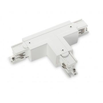 T-образный левый соединитель для шинопровода Ideal Lux LINK TRIMLESS T-CONNECTOR LEFT WHITE 169781, белый, пластик