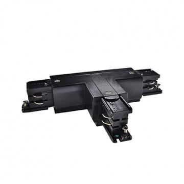 T-образный левый соединитель для шинопровода Ideal Lux LINK TRIMLESS T-CONNECTOR LEFT BLACK 169798, черный, пластик