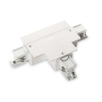 T-образный левый соединитель для шинопровода Ideal Lux LINK TRIM T-CONNECTOR LEFT WHITE 188157, белый, пластик