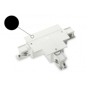 T-образный левый соединитель для шинопровода Ideal Lux LINK TRIM T-CONNECTOR LEFT BLACK 188164, черный, пластик