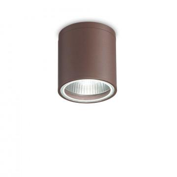 Потолочный светильник Ideal Lux GUN PL1 COFFEE 163666, IP44, 1xGU10x28W, коричневый, металл, стекло