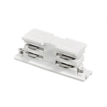 Внутренний прямой соединитель для шинопровода Ideal Lux LINK ELECTRIFIED CONNECTOR WH ON-OFF 169637 (LINK ELECTRIFIED CONNECTOR WHITE), белый, пластик